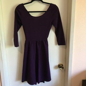NWT Ya Los Angeles Purple Fit & Flare Dress Open T